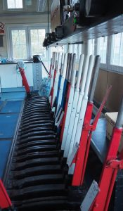 Inside Hebden Bridge Signal box