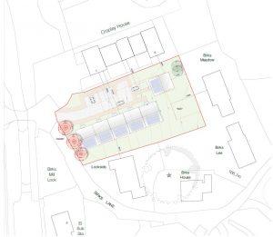 Birks Lane, Walsden site plan