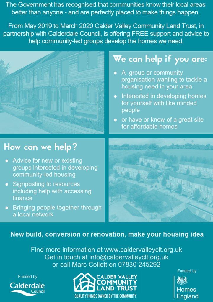 CVCLT Community-Led Homes leaflet back