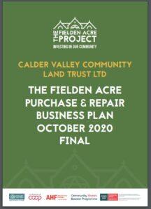 Calder Valley CLT Fielden Acre Business Plan cover